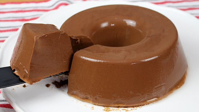 Pudim Gelado de Chocolate de Liquidificador