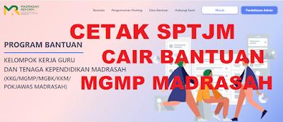 SEGERA! Download dan Cetak SPTJM Pencairan Bantuan MGMP/MGBK/KKG Guru Madrasah Tahun 2021