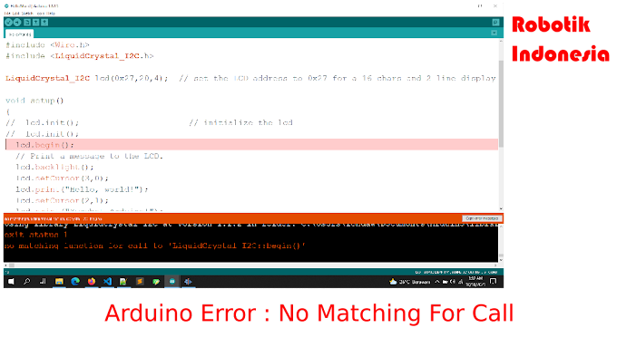 Arduino Error : No Matching Function For Call