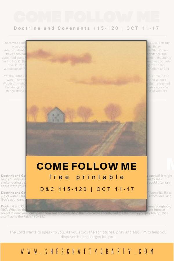 Come Follow Me Free Printable Home Study Sheet Oct 11