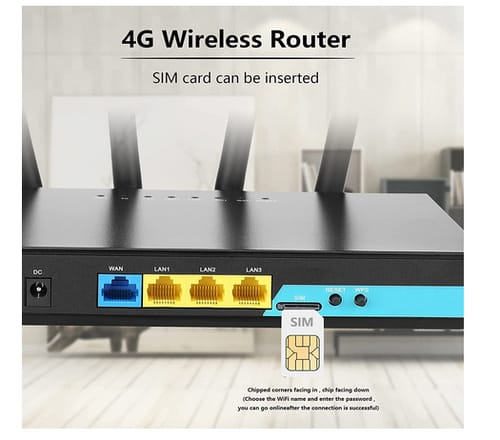 KuWFi WR180-AF 4G LTE Router with SIM Card Slot