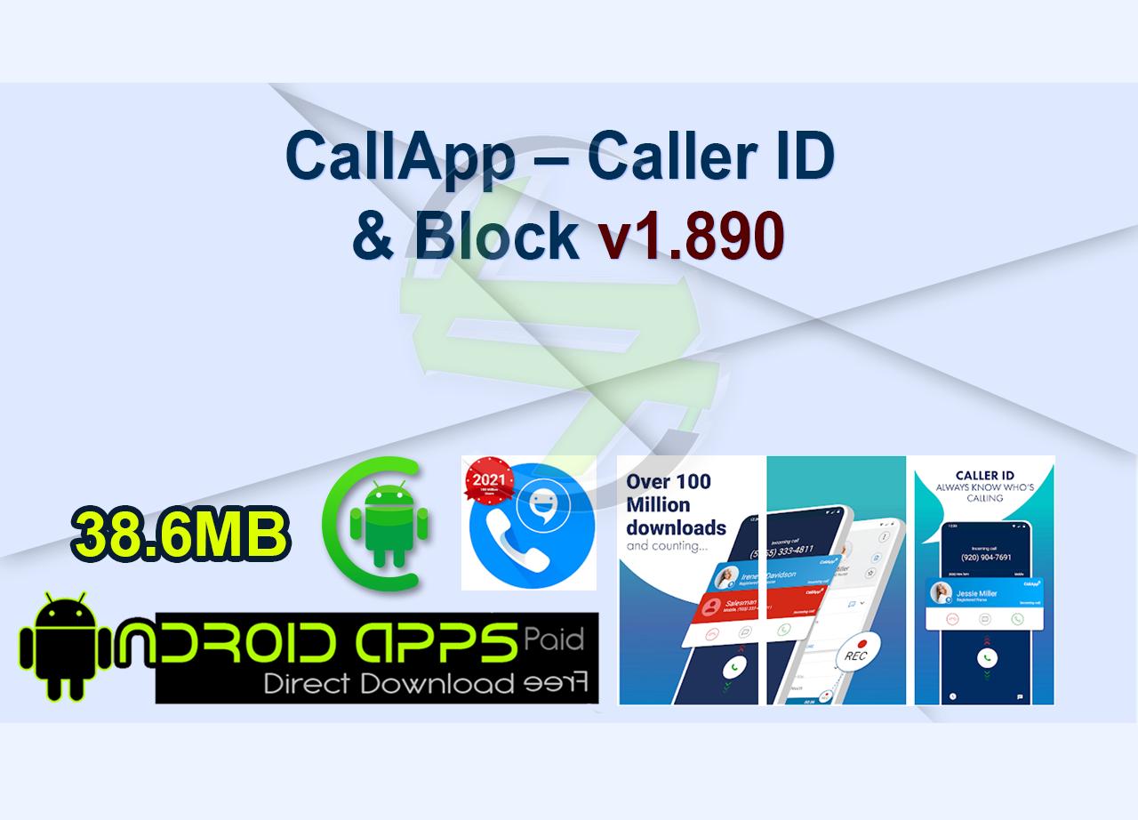 CallApp – Caller ID & Block v1.890