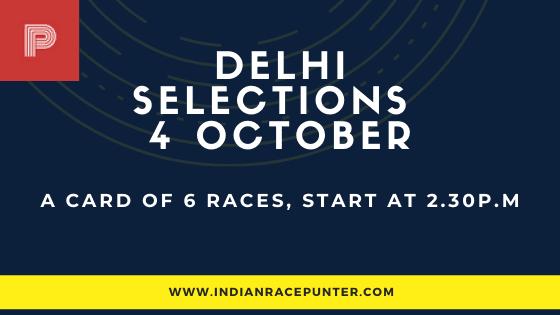 Delhi Race Selections 4 October