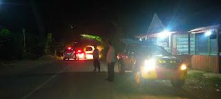 Antisipasi Kejahatan Malam Hari, Kanit Spkt Sek Cendana Polres Enrekang Laksanakan Patroli Blue Light