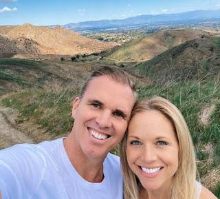 Tiffany Coyne clicking selfie with her husband Chris Coyne