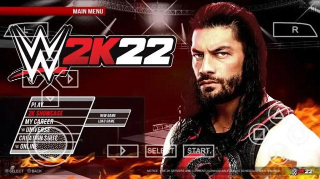 تحميل لعبة WWE 2K22 لمحاكي PPSSPP من ميديا فاير