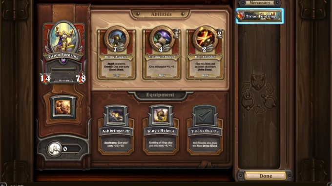 Hearthstone Mercenaries: How do I get and use coins?