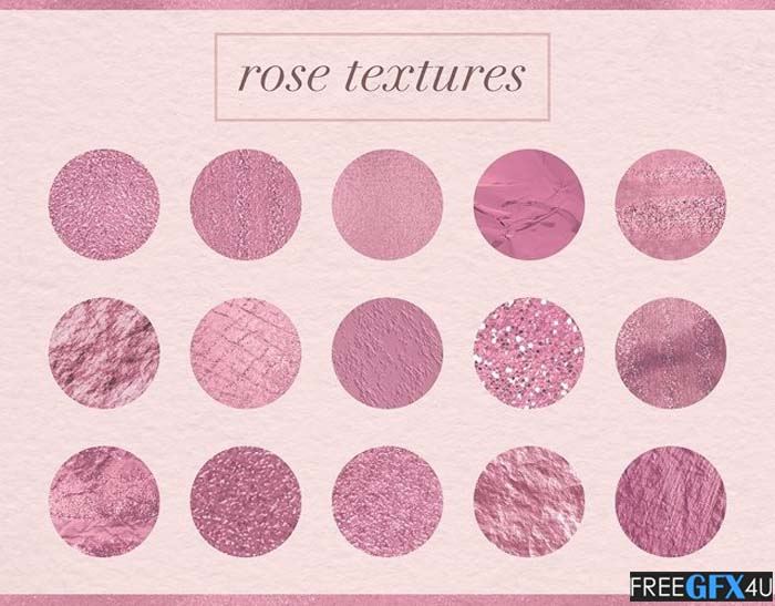 15 Rose Gold Textured Backgrounds