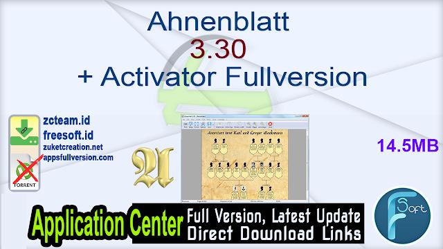 Ahnenblatt 3.30 + Activator Fullversion