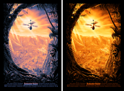 New York Comic Con 2021 Exclusive Jurassic Park Screen Print by Ape Meets Girl / Kevin Wilson x Bottleneck Gallery