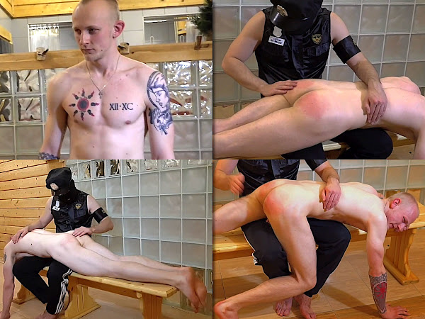 #RusStraightGuys - Hand spanking punishment boy Dimon 22