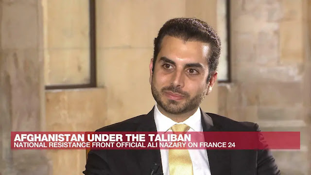 Mr. Ali Maisam Nazary in an interview with France 24.