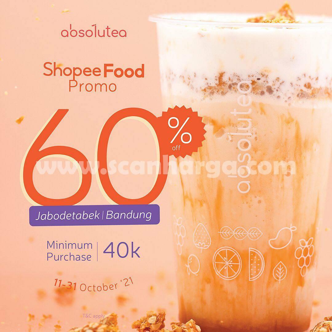 Promo Absolutea Diskon 60% via ShopeeFood