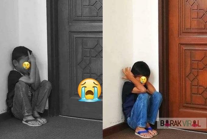 Tular Gambar Anak Menangis Depan Mahkamah Syariah Tunggu  Mak Ayah Bercerai