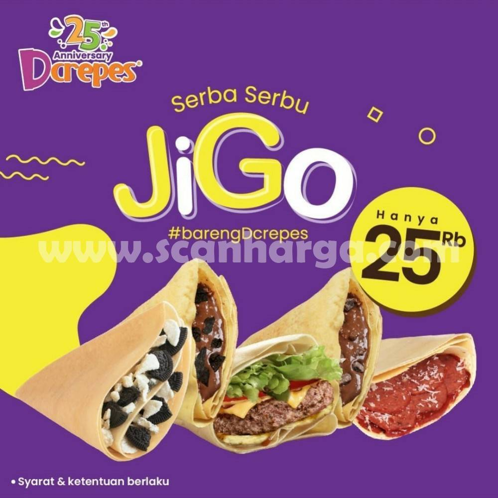 DCREPES Promo JIGO SERBA SERBU Hanya Rp. 25 RIBU