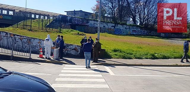 Osorno: trabajo policial en el puente San Pedro