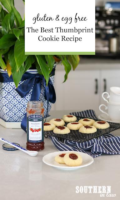 The Best Gluten Free Thumbprint Cookie Recipe - Gluten Free Jam Drop Shortbread Cookies Recipe