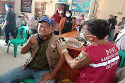 Tingkatkan Herd Immunity, Polsek Cibeber Adakan Gebyar Vaksinasi di Kantor Desa Warungbanten