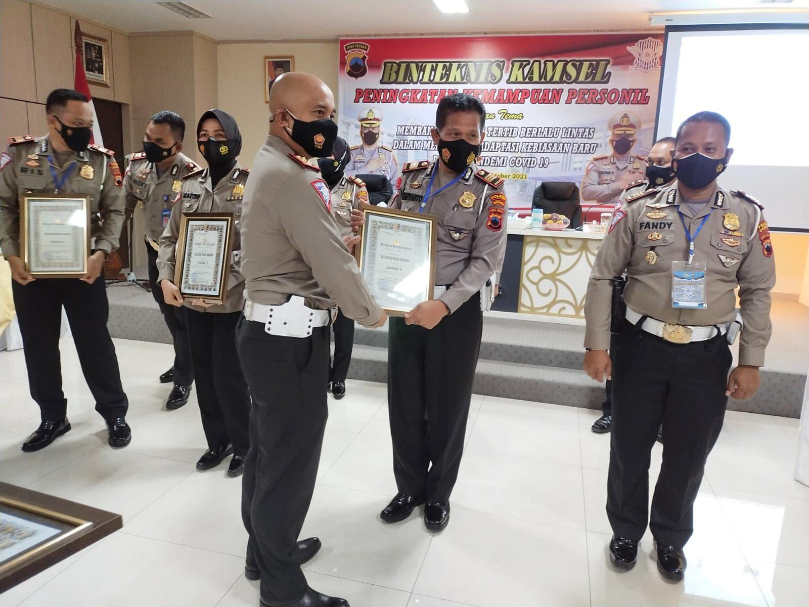Sat Lantas Polres Kebumen Juara 4  Pelaksanaan Operasi Patuh Candi 2021