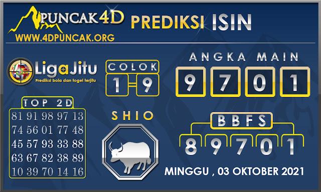 PREDIKSI TOGEL ISIN PUNCAK4D 03 OKTOBER 2021