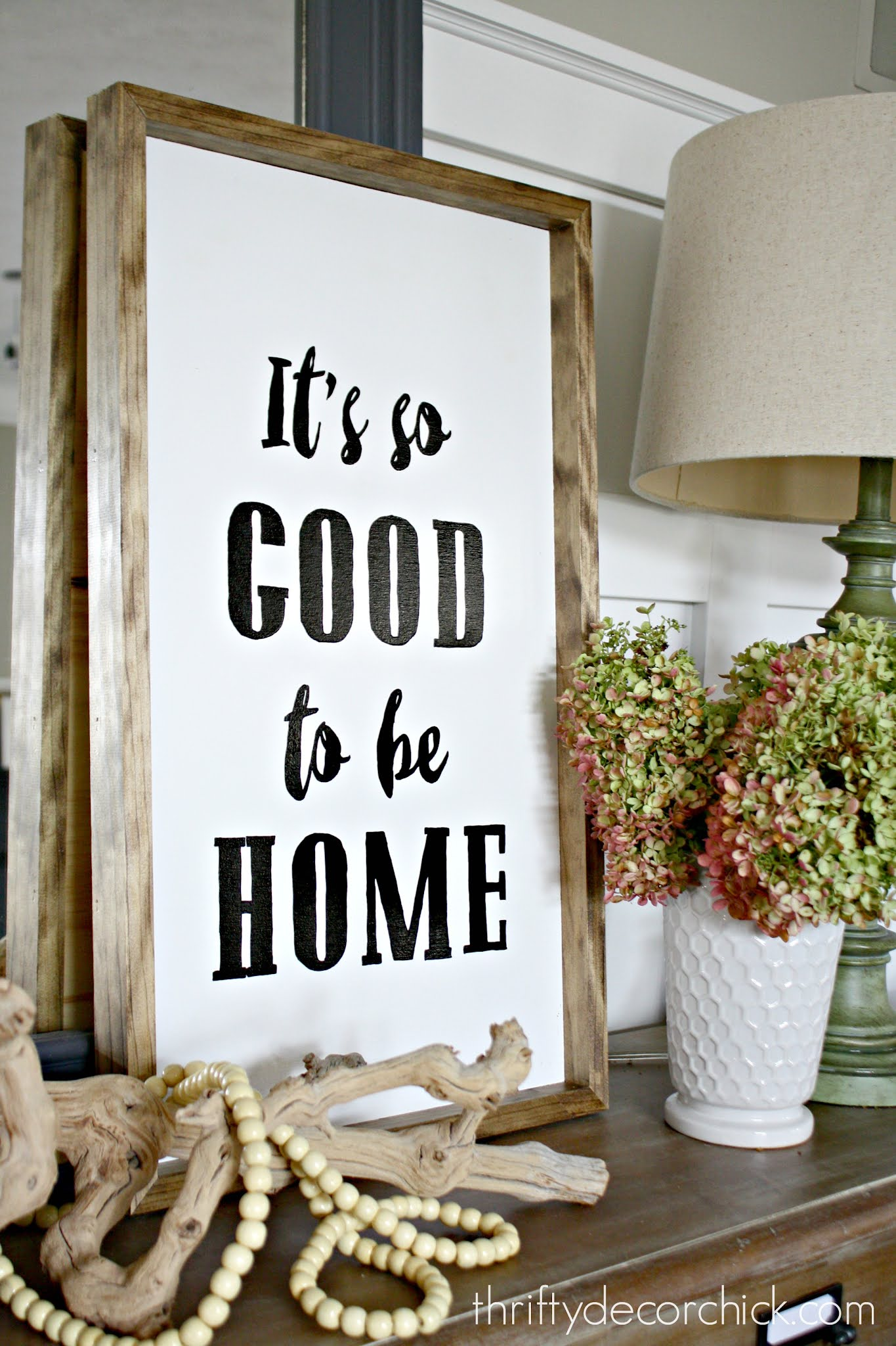 It's good to be home DIY art