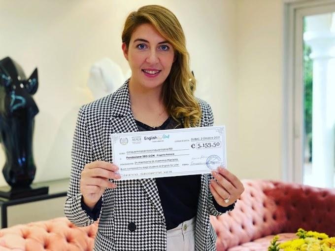 Prevenire i tumori: donati allo IEO 5.000 dall'imprenditrice brianzola Monica Perna