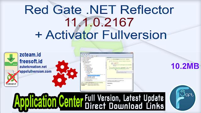 Red Gate .NET Reflector 11.1.0.2167 + Activator Fullversion