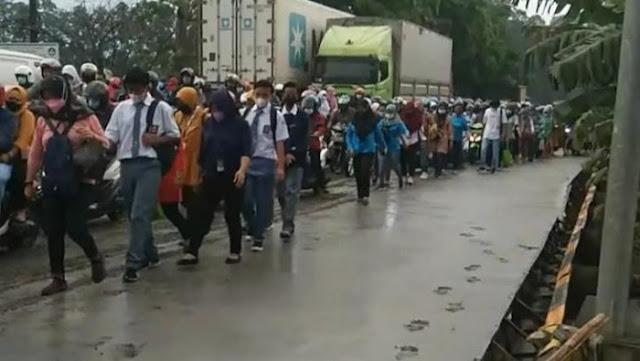Viral Jalan Baru Dicor di Tangerang Dilintasi Warga, Ini Respons KemenPUPR