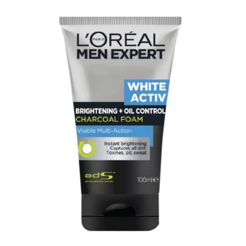 L'Oréal men - White active charcoal (Dry skin)