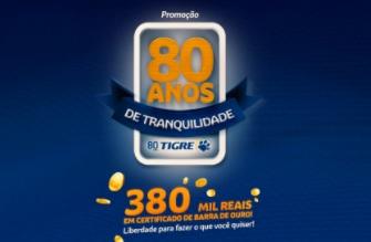 Aniversário Tigre 80 Anos Tranquilidade Promoção 2021
