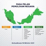 Pembahagian Fasa Mengikut Negeri Dalam PPN Berkuatkuasa 18 Oktober 2021