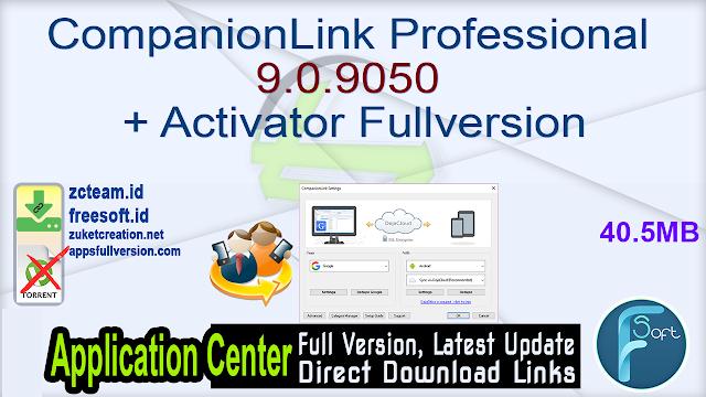 CompanionLink Professional 9.0.9050 + Activator Fullversion