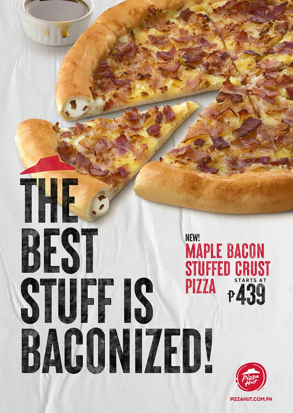 Pizza Hut's Maple Bacon Stuffed Crust Pizza