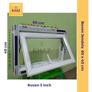 Jendela Lubang Angin / Boven Kaca / Jendela Kecil 60 x 40 cm / Boven