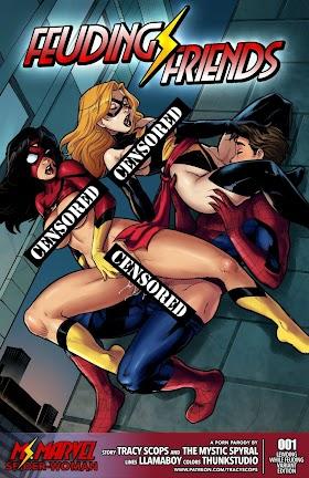 Feuding Friends Spider-Man , Captain Marvel (1/1)
