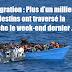 Immigration illégale : Plus d'un millier de clandestins ont traversé la Manche le week-end dernier