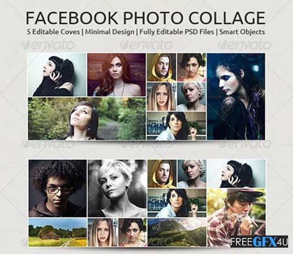 FB PSD Photo Collage