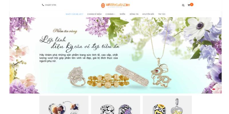 Mẫu website bán đồ trang sức