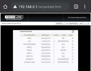 3. List sinyal wifi yang tertangkap