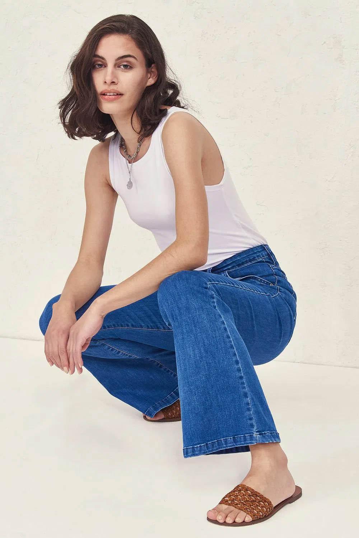 moda verano 2022 pantalones de jean 2022  mujer