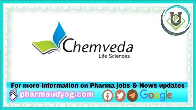 Chemveda Life Sciences   Walk-in for CRO R&D on 30th Oct 2021