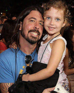 Harper Willow Grohl with her father Dave Grohl