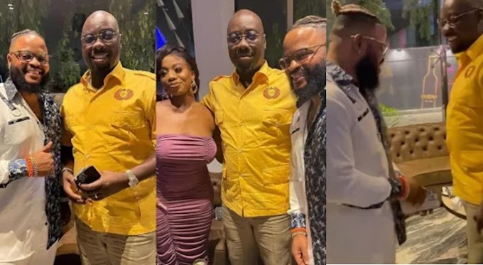 BBNaija Winner, White Money And Angel Meet Obi Cubana
