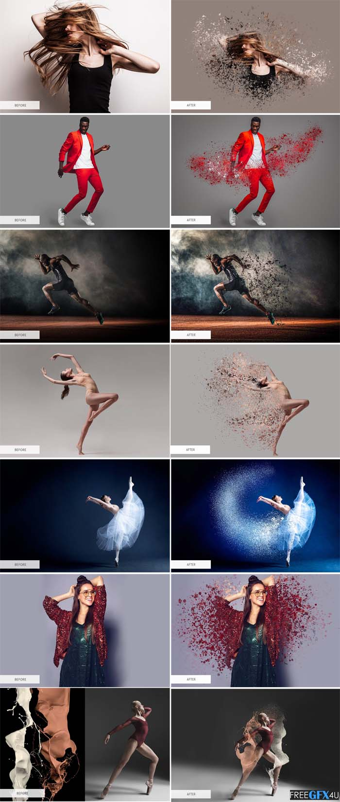 Dispersion Effect PS Actions Pack
