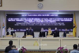 Pemprov Lampung Apresiasi DPRD atas Disetujuinya Raperda tentang RPJMD Tahun 2019-2024 Menjadi Perda