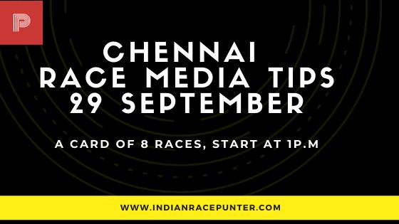 Chennai ooty Race Media Tips 29 September