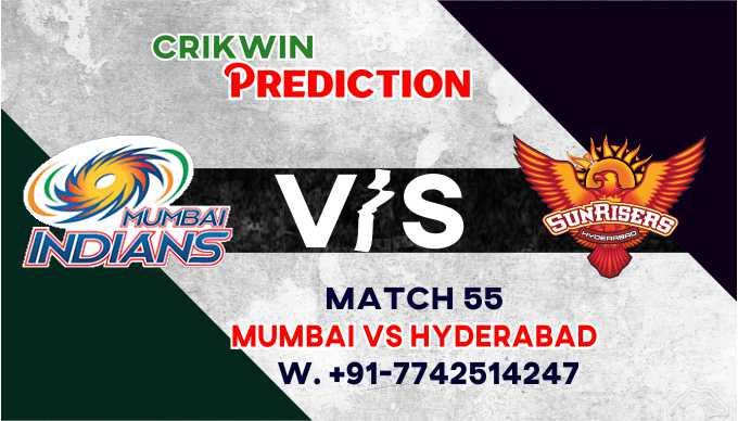 SRH vs MI 55th T20 Today Match Prediction Ball by Ball 100% Sure