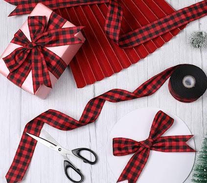 Good Quality Plaid Taffeta Ribbons For Craft
