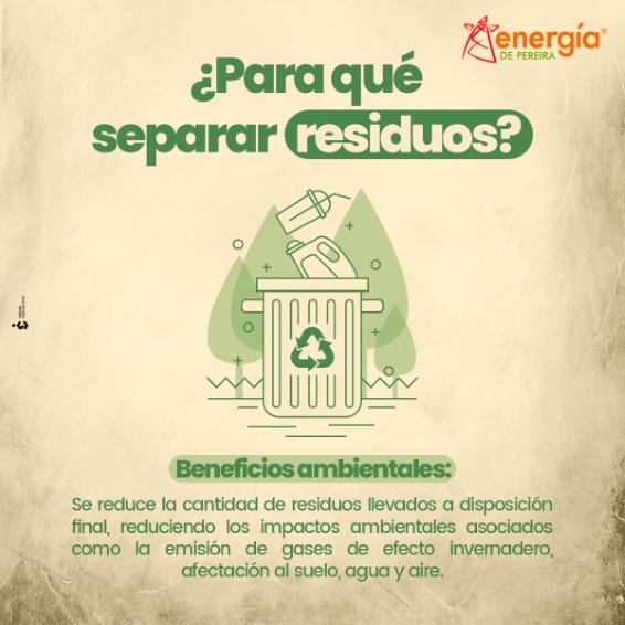 ¿Sabes de qué sirve separar los residuos?