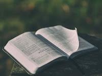 Open Bible Photo by Aaron Burden on Unsplash